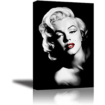 PIY Red Lips Marilyn Monroe Wall Art With Frame, Canvas Prints Wall Decor  Paintings For