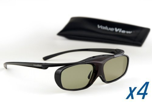 SHARP-Compatible ValueView 3D Glasses. Rechargeable. MULTI-PACK