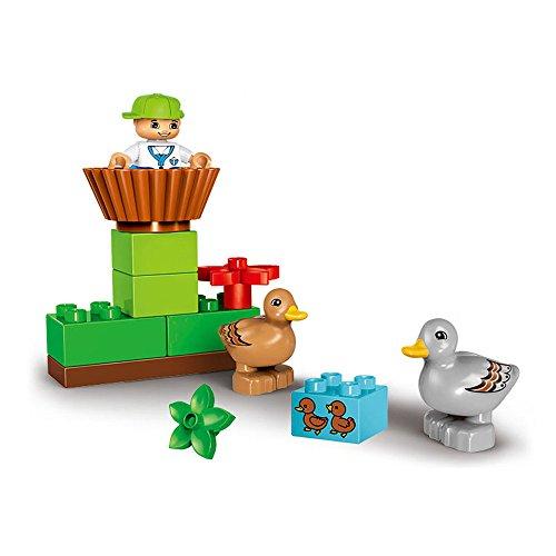 Hisoul GOROCK Building Block Set - Exquisite Design Soft Burr-Free Edges Large Farm Blocks Children's Educational Toys for Kids Early Learning Educational Toys (13Pcs) (A)