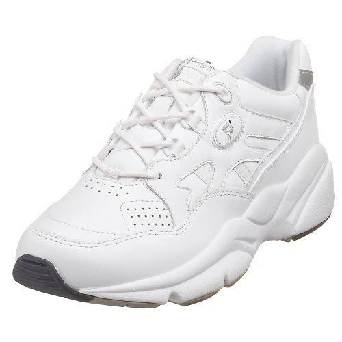 Propet Womens Stability Walker Shoe White 7 X (2e)