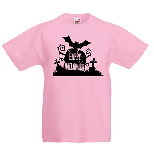 Urban Ninja Costume (T shirts for kids Halloween Graveyard Outifts - Costume Ideas - Cool Horror Design (3-4 years Pink Multi Color))