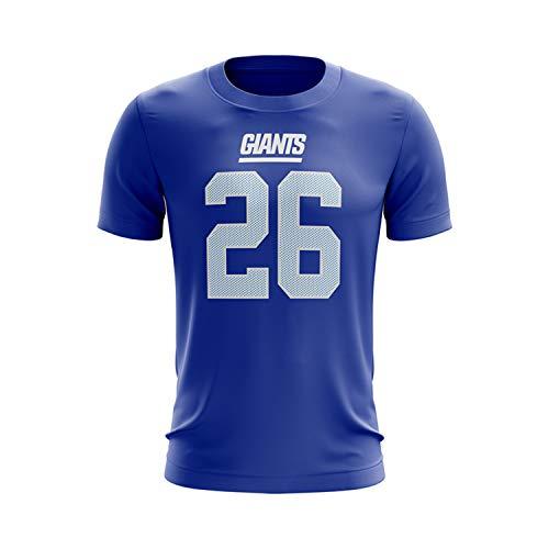 eebbc395bad Majestic Athletic Men s Saquon Barkley New York Giants Player Pride Name    Number T-Shirt – Royal