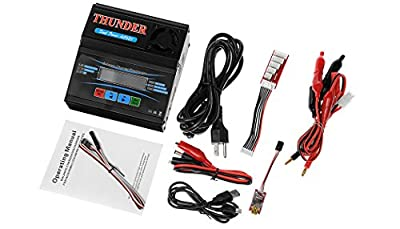 Thunder AC680 Professional Dual-Power LiPo Balance Charger/Discharger w/ AC Adapter for 1-6 Lipo/ 1-15 Nimh + USB to PC Software