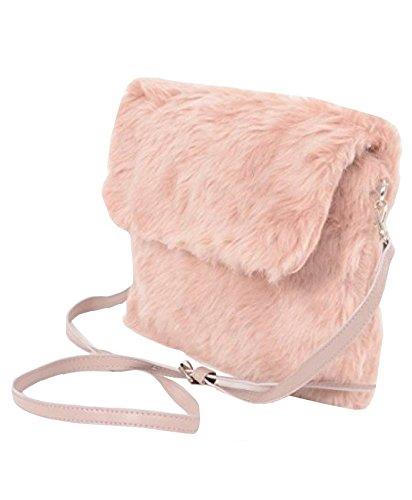 ALIADO Women s Faux Fur Sling Bag (Peach Pink)  Amazon.in  Shoes   Handbags 0573271461430