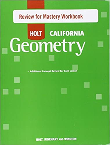 Amazon holt geometry california review for mastery workbook holt geometry california review for mastery workbook geometry 1st edition fandeluxe Choice Image