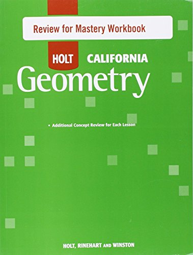 Holt Geometry: Review for Mastery Workbook Geometry