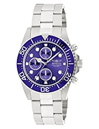 Invicta Men's 1769 Pro Diver Collection Stainless Steel Bracelet Watch with Blue Dial