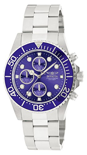 Invicta Men's 1769 Pro Diver Collection Stainless Steel Bracelet Watch with Silver/Blue (Invicta Band Bracelet)