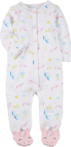 Carter's Baby Girls' Baby Girls Unicorn Snap Up Cotton Sleep And Play 3 Months (Pajamas Preemie)