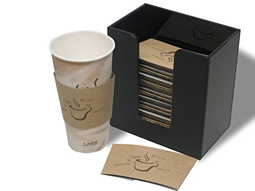 Coffee Cup Sleeve or Hot Cup Holder Short Dispenser Organizer for Hot Drink Cups (3016) ()