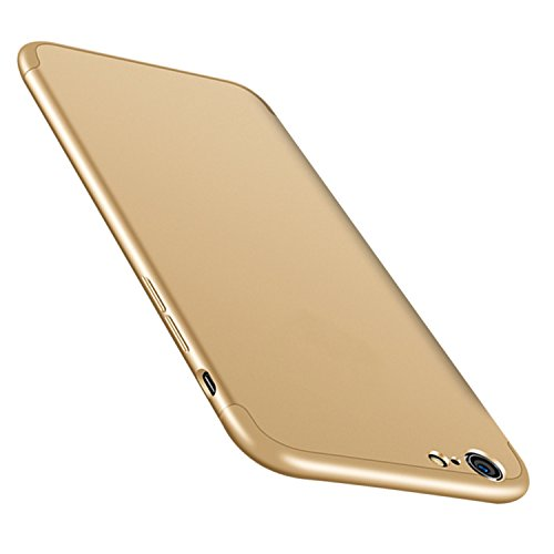 "Coque iPhone 8 JEPER? 360 Protection Intgrale Etui PC 3 en 1 Ultra Mince Anti-Choc Anti-Scratch Housse pour Telephone Apple iPhone 7 Case 4.7"" Or"