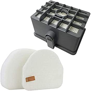 JJSS NV480 HEPA Filter Kit for Shark Rotator NV450 NV451 / Rocket NV472 NV480 NV481 NV482 NV484 Professional Upright Vacuum, Part # XHF480 & XHF450 (Tall Size 2.75