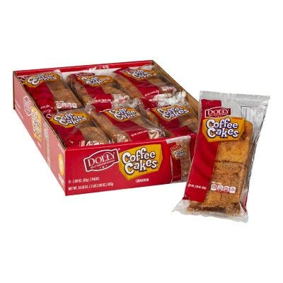 Dolly Madison Single Serve Coffee Cake, 2.89 Ounce -- 48 per case.