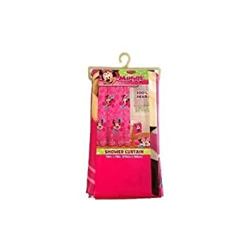 Amazon.com: Disney Minnie Mouse Peva Shower Curtain Pink Flower ...