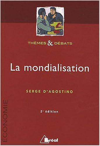 Livres La mondialisation pdf, epub