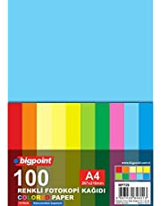 Bigpoint Renkli Fotokopi Kağıdı 80Gr. A4 100 Yaprak / 10 Renk