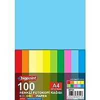 Renkli Fotokopi Kağıdı 80Gr. A4 100 Yaprak / 10 Re