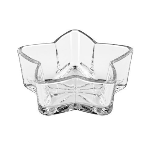 6 Inch Clear Glass Star Shaped Serving (Glass Candy Dish Bowl)