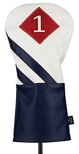 Callaway Golf 2018 Vintage Headcover, White/ Navy/ Red, (Navy Headcover)