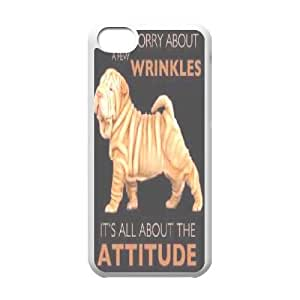 Shar Pei Design Discount Personalized Hard Case Cover for iPhone 5C, Shar Pei iPhone 5C Cover