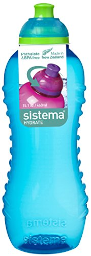 Sistema Twist N Sip Collection Drink Bottle  15 5 Ounce  Assorted Colors