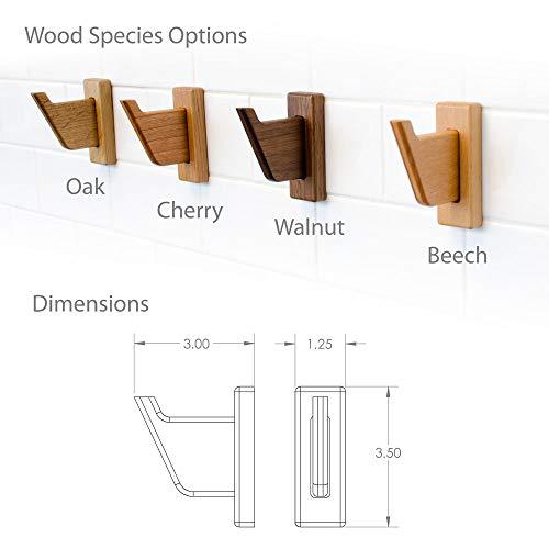 Robe & Towel Hook, Solid Natural Wood, Easy to Hang, Modern Bath Decor