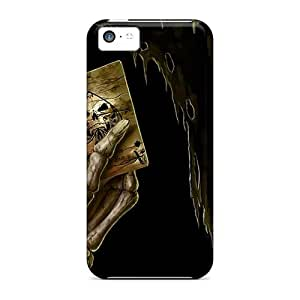 Awesome Skeleton Playing Poker Flip Case With Fashion Design For Iphone 5c