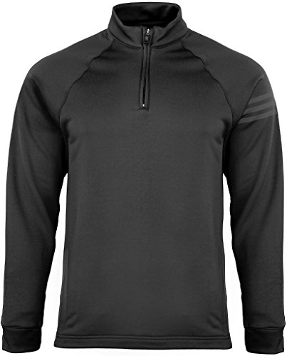 Adidas Mens Performance 1/2-Zip Training Top - BLACK - (Pullover Training Top)