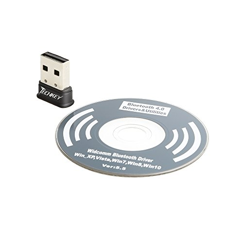 TECHKEY Bluetooth Adapter for PC USB Bluetooth Dongle 4 0