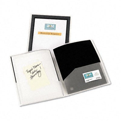 Avery 47847 Flexi-View Presentation Folder, 2-Pockets, 8.5 x 11, Black, - View Flexi Pocket 2 Folders