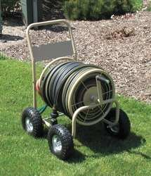 Liberty 2LRL2 Hose Cart, 4 Wheel, 14 Ga Steel