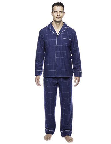 [Box Packaged] Noble Mount Mens Premium 100% Cotton Flannel Pajama Set