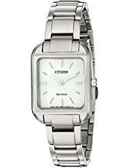 Citizen Womens Silhouette Quartz Stainless Steel Casual Watch, Color:Silver-Toned (Model: EM0490-59A)