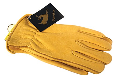 Napa Deerskin Driver Gloves with Thinsulate Lining (Tan, Large)