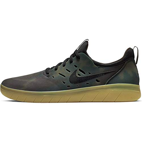 Nike SB Nyjah Free Premium Mens Fashion-Sneakers AO0805-900_10.5 - Multi-Color/Black-Gum Light Brown (Sb Nike Free Shoes)