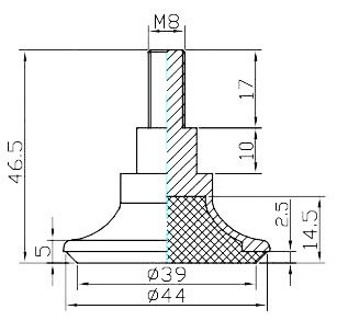 4'' tall Sleek Tapered Adjustable Leg, Brushed Nickel Finish, Set of Four Legs by TableLegsOnline (Image #5)
