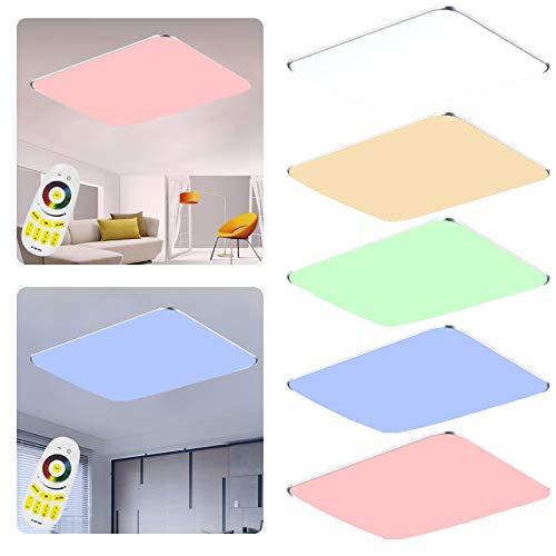 48W Warmwei/ß SAILUN 48W Ultraslim LED Deckenleuchte Flur Wohnzimmer Kinderzimmer Wand-Deckenlampe Schlafzimmer K/üche Licht