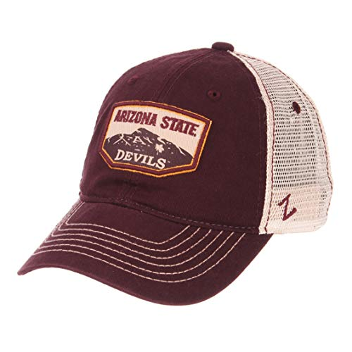 Zephyr NCAA Arizona State Sun Devils Men's Trademark Relaxed Cap, Adjustable, Washed Team/White ()