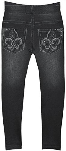 Crush Toddler Girls Blue Jean Print Leggings in 7 Fun Styles in Sizes 2T-4T (2T-4T, 22492 Black) by Crush (Image #2)
