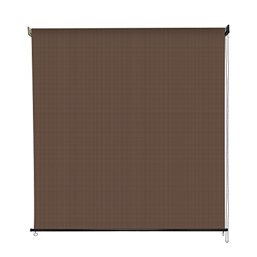 Sunlax 6' x 6' Exterior Sun Roller Shade UV Block Window Blinds in Color Cabo Sand - Exterior Roller Shade