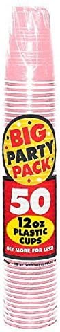 Amscan Big Party Pack Reservation Durable Cups 12oz Plastic New Pink Max 89% OFF