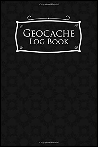 Geocache Log Book Note Geocaching Template Diary Track Black Cover Volume 25 Rogue Plus Publishing