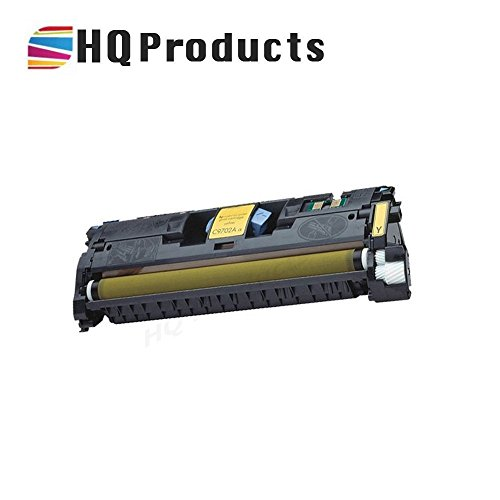 HQ Products Remanufactured Replacement HP 121A Yellow (C9702A) Toner Cartridge for use in HP Color Laserjet 1500 2500, 2500n, 1500L, 2500tn, 1500Lxi, 2500, 2500, 2500Lse Series Printers. - C9702a Yellow Cartridge