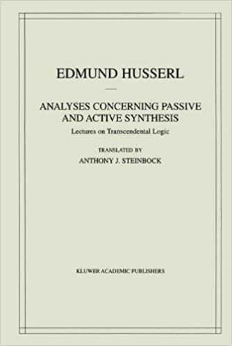 Analyses Concerning Passive and Active Synthesis: Lectures on ...