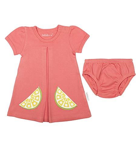 Dress Organic Knit - BÉBÉNCA Baby Girl 100% Organic Cotton Dress with Bloomers