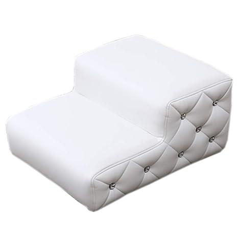 QZ Pet Ramp White Indoor para Perros Cat para sofá Cama, 2 escalones de PU. Pasa ...
