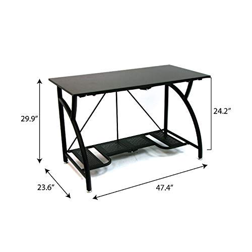 Sauder Student Desk - Origami Foldable Computer Desk, Black