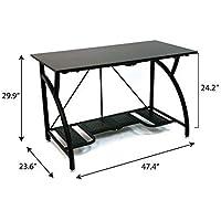 Origami Foldable Computer Desk (Black)