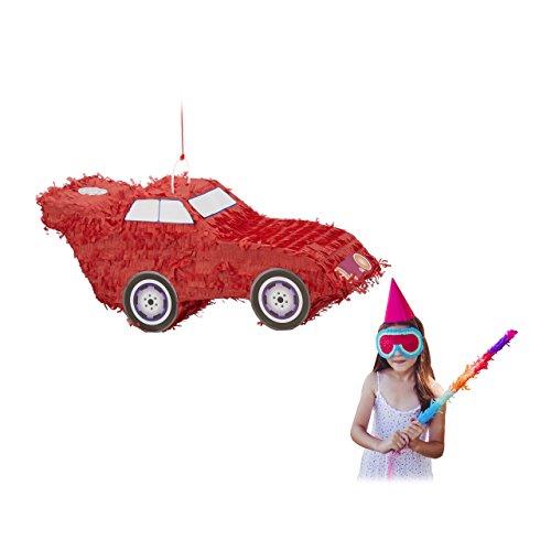 Relaxdays suspendre pour voiture Pinata, enfant, filles, anniversaire, Remplissables, H x L x Pâ€