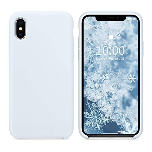 (SURPHY Silicone Case for iPhone Xs Max, Slim Liquid Silicone Soft Rubber Protective Phone Case Cover (with Soft Microfiber Lining) Compatible with iPhone Xs Max 6.5